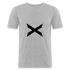 X-hoodie - Slim Fit T-skjorte for menn