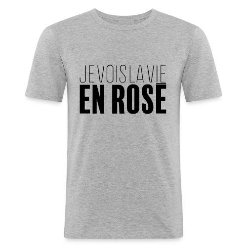 La vie en rosé - T-shirt près du corps Homme