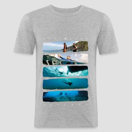 75 Jahre Jubiläum | MEN | grau - Männer Slim Fit T-Shirt