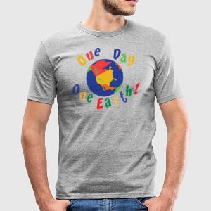 Jour de la Terre One Day One Earth - Tee shirt près du corps Homme