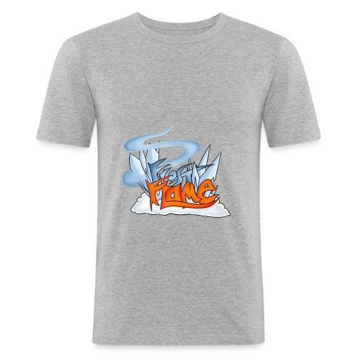 FrostFlame Logo - Slim Fit T-skjorte for menn