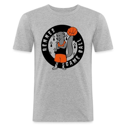 rennes game ball - T-shirt près du corps Homme