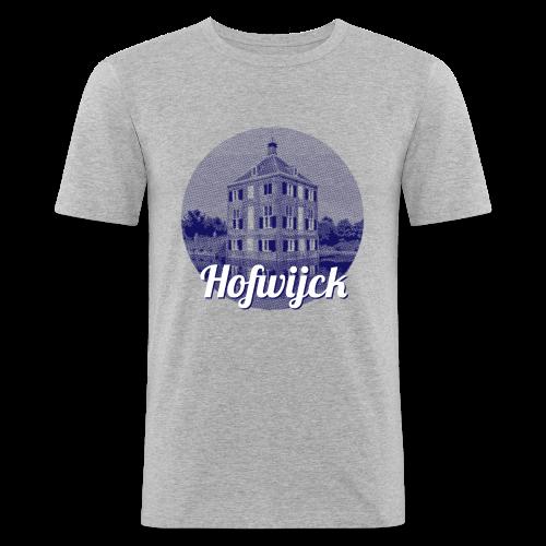Hofwijck blauw - slim fit T-shirt