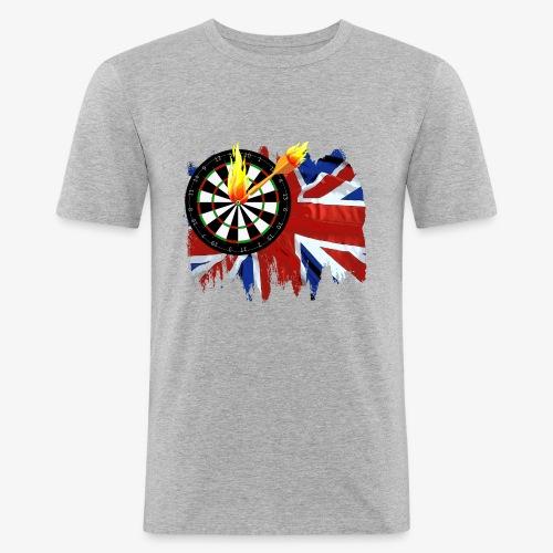 Burning Dart - Männer Slim Fit T-Shirt