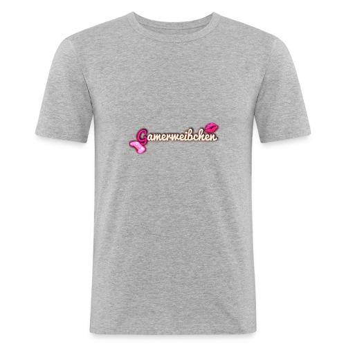 Gamerweibchen LOGO - Männer Slim Fit T-Shirt