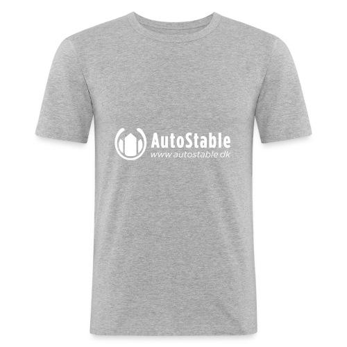 Vit_utan_bakgrund_vector_autostable_danmark - Slim Fit T-shirt herr