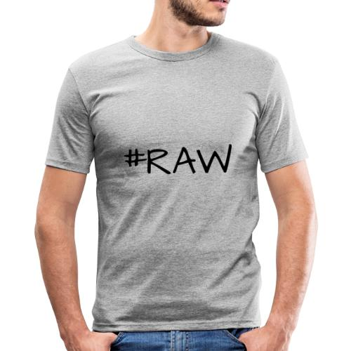 RAW - Fotografen T-Shirt - Männer Slim Fit T-Shirt