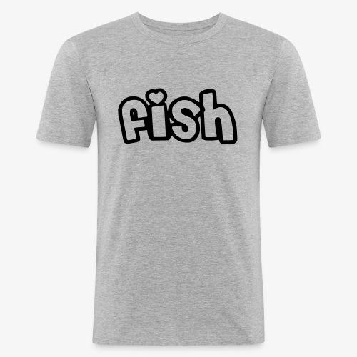 Einfaches Design - Männer Slim Fit T-Shirt
