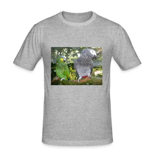 Amazone og grå - Herre Slim Fit T-Shirt