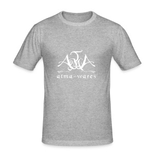 atma wares logo white - slim fit T-shirt
