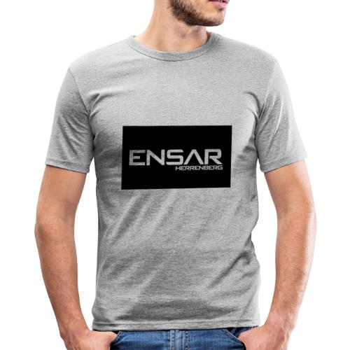 ensar schwarz - Männer Slim Fit T-Shirt