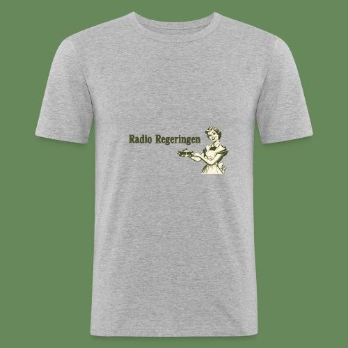 Radio Regeringen Grön Logga - Slim Fit T-shirt herr