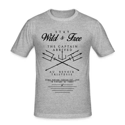 WILD & FREE - Männer Slim Fit T-Shirt