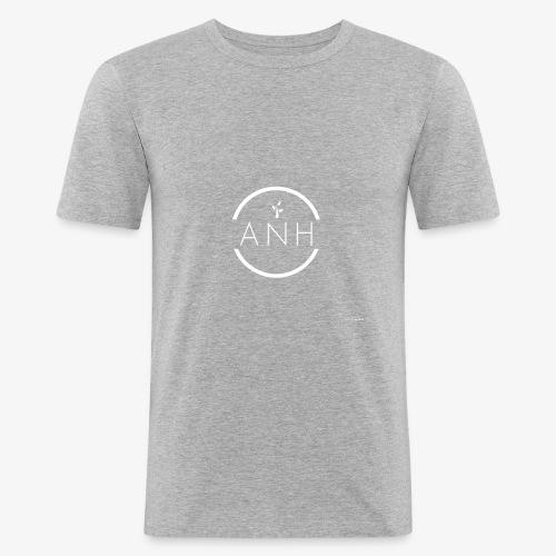 ANH white logo - Men's Slim Fit T-Shirt