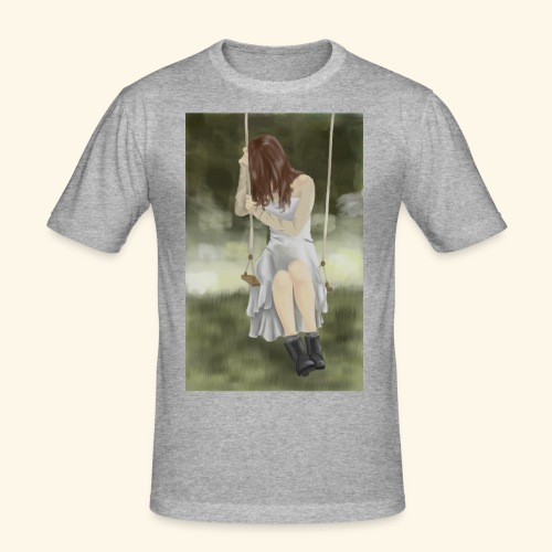 Sad Girl on Swing - Men's Slim Fit T-Shirt