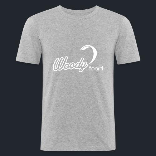 Logo Woodyboard Blanc - T-shirt près du corps Homme