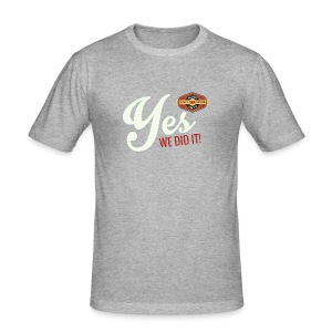 YES-nappo_wh - Männer Slim Fit T-Shirt