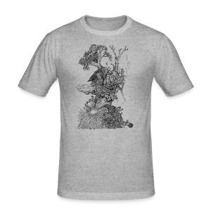 Demodern Design - Pattern Tree - Männer Slim Fit T-Shirt