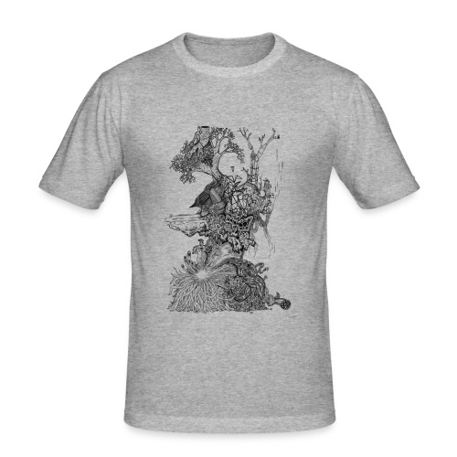 Demodern Design - Pattern Tree - Männer Slim Fit T-Shirt