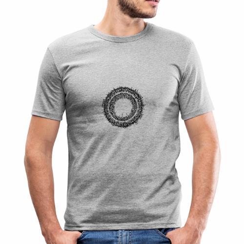 Calligrapy/graffiti Schriftkreis - Männer Slim Fit T-Shirt