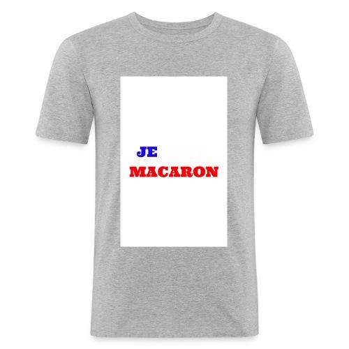 JE VOTE MACARON - T-shirt près du corps Homme