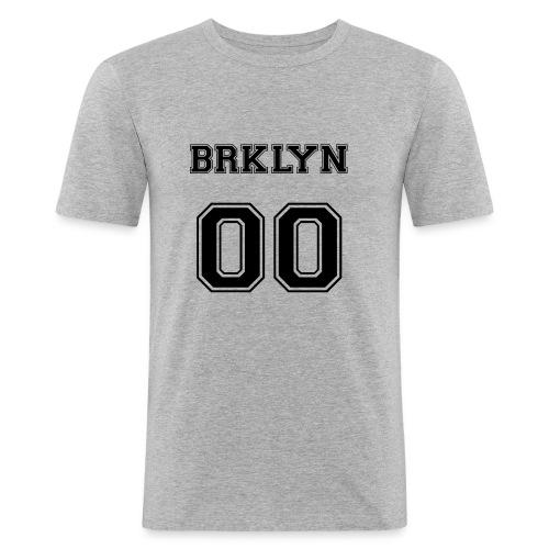 BRKLYN 00 - Maglietta aderente da uomo