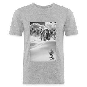 Winterlandschaft #1 - Männer Slim Fit T-Shirt