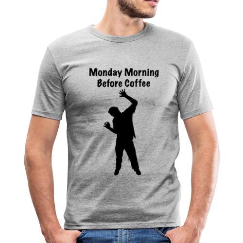 Coffee Zombie - Männer Slim Fit T-Shirt