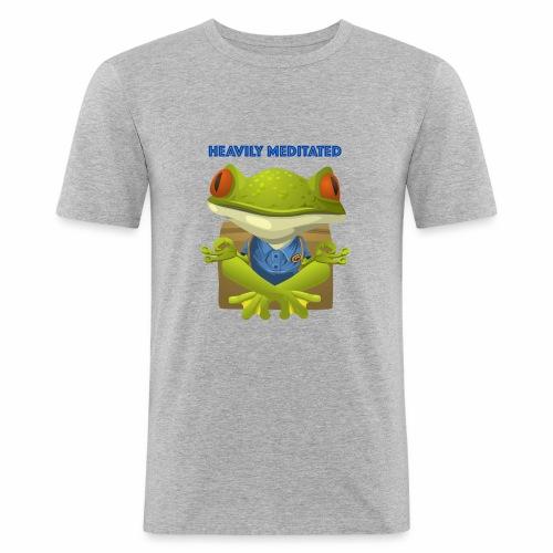Heavily meditated - frog - Männer Slim Fit T-Shirt