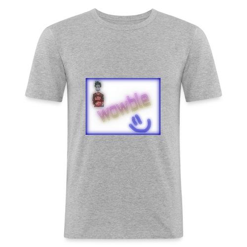 wowble er en kanal forbundet med galskap og yaa - Slim Fit T-skjorte for menn