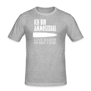 Ammosexual (weiß) - Männer Slim Fit T-Shirt