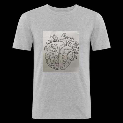Brain VS Heart - Männer Slim Fit T-Shirt