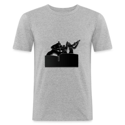 Estatua del Minero Laciana - Camiseta ajustada hombre