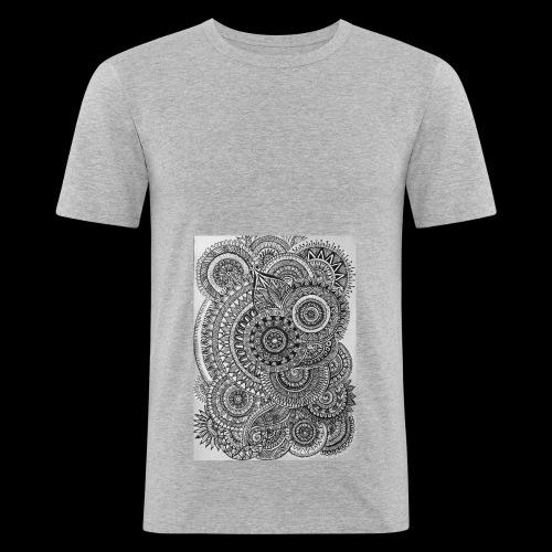 Chaos and Symmetry // - Men's Slim Fit T-Shirt