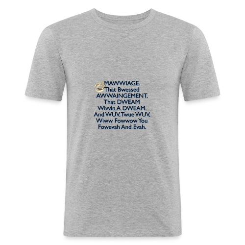 Mawwiage (blue) - Men's Slim Fit T-Shirt