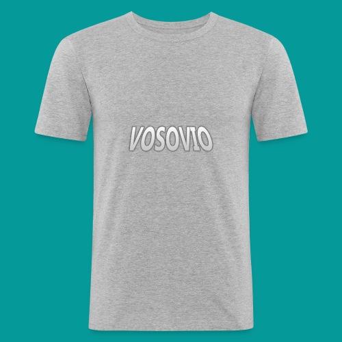 Vosovio Logo - Men's Slim Fit T-Shirt