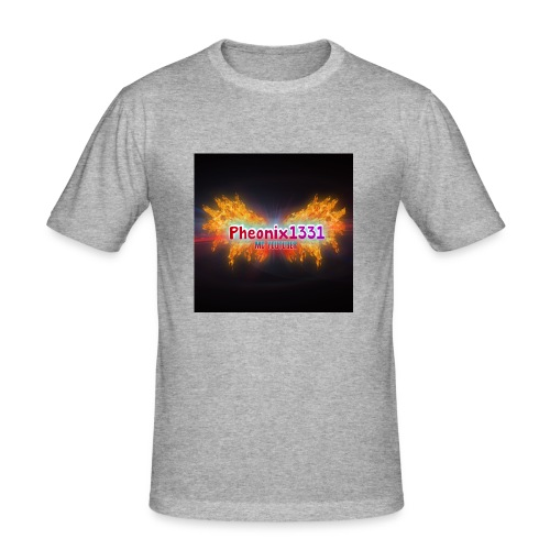 Flaming Pheonix YT - Men's Slim Fit T-Shirt