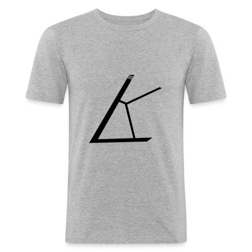 LKB Logo RD - Männer Slim Fit T-Shirt