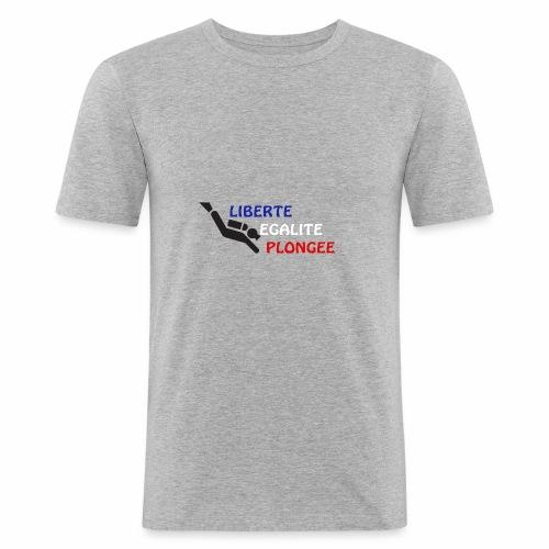 devise plongée - T-shirt près du corps Homme