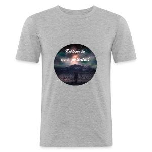 Believe in Your Potential - Men's Slim Fit T-Shirt