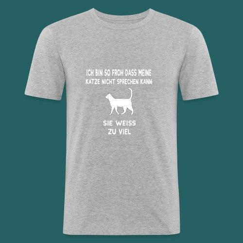 Meine Katze weiß zu viel - Limitierte Edition - Männer Slim Fit T-Shirt