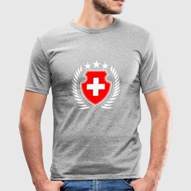Switzerland - Men's Slim Fit T-Shirt