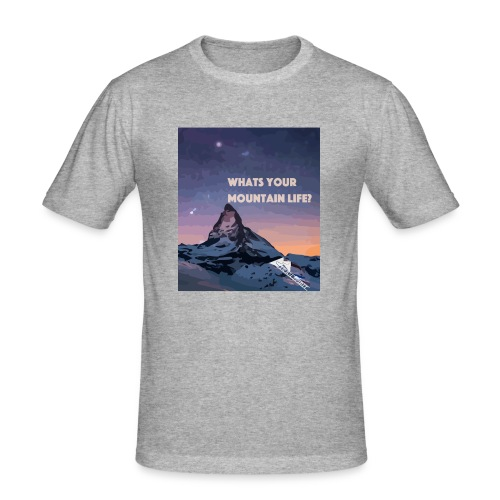 Whats your Mountain Life? - Männer Slim Fit T-Shirt