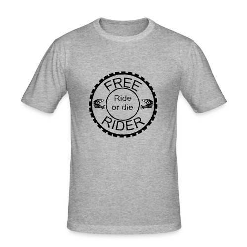 Free Rider ROD - Männer Slim Fit T-Shirt
