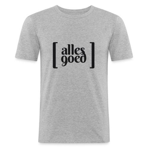 Alles Goed logo zwart - slim fit T-shirt