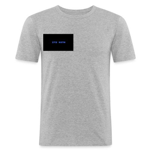 BLUE - Men's Slim Fit T-Shirt