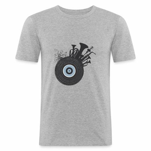 Live in Music - Maglietta aderente da uomo