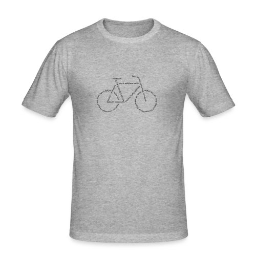 Languages Bike - Männer Slim Fit T-Shirt