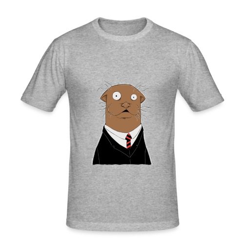 Office Otter - Männer Slim Fit T-Shirt
