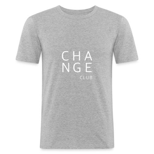 ChangeClub white - Männer Slim Fit T-Shirt